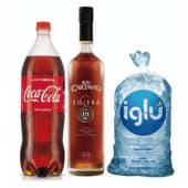 Ron Solera 12 años + Coca Cola 1.5 lt + Hielo 1.5 kg