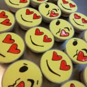 Monoporzioni semifreddo emoji fiordilatte/cioccolato