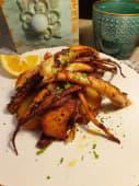 Tentacule calamar si cartofi cu rosii deshidratate