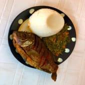 Half Tilapia Fish Deep Fry With Ugali