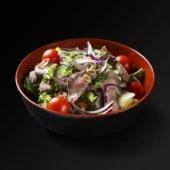 Salade de boeuf et citronnelle