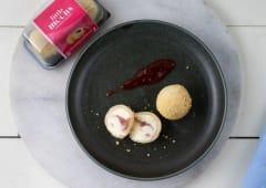 Mini Mochi de Cheesecake de Fresa