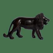 Lion Ebony Wooden Sculpture