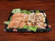 T8-13 Sashimi de Salmão e Braseado
