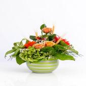 Aranjament mixt energy în vas de ceramică green