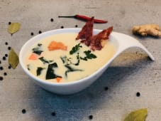 Місо-суп вершковий з лососем