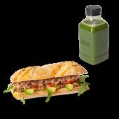 Menú panino de atún, mostaza y aguacate + zumo (500 ml.)