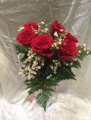 Ramo de 6 rosas rojas Libertad