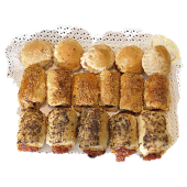 Bandeja de hojaldritos salados (1 Kg.)