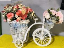 ყვავილები ველოსიპედზე