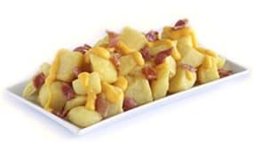 Patatas queso cheddar y bacon (extra grandes)