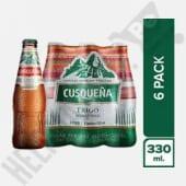 Cervezas Cusqueña Trigo Six Pack Botella x 330ml