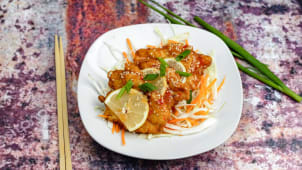 Chicken with sesame and lemon