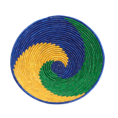 Blue/Green/Orange Weaved Basket