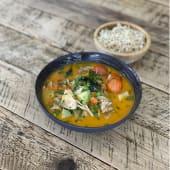 Curry Rojo con arroz integral