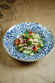 Салат з імеретинським сиром, овочами й кінзою (280г)