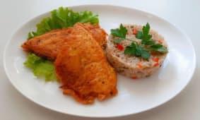 Пангасіус і рис з овочами (380г)