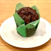 Matcha vegan chocolate muffin