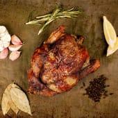 1/4 pollo a l'ast + patatas rustidas