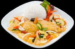 Ryba pieczona w czerwonym curry