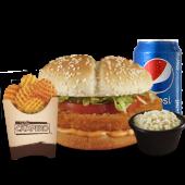 Glovo Menú: Hamburguesa Clásica + Pepsi Lata +  Ensalada de Repollo
