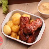 Mici cu cartofi rotunzi și mustar
