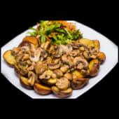 Salchipapa Vegetariana Champi