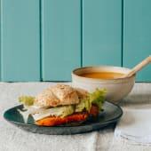 Menu Sopa e Pão Água c/ Panado
