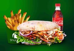 Meniu Leonidas puisor, cartofi, sos, Coca Cola - 500ml