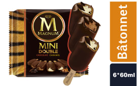 Glaces Magnum Pack Double Chocolat et Caramel 6*60ml