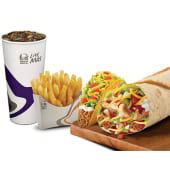 Combo 9 - Burrito supreme de pollo + crunchy taco