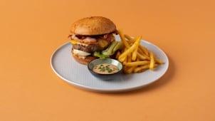 100% juneći burger