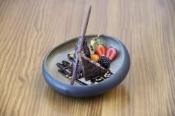 Brownie de chocolate y nueces de pecan