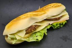 Baguete de hambúrguer