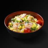 Salade de crevettes et ananas
