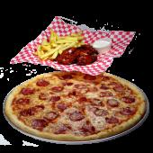 Pizza + alitas