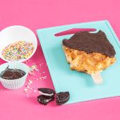 Waffle con crema de galleta Oreo