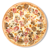 Pizza carbonara (familiar)
