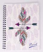 Cuaderno Espiral A4 100Hjs 1 Linea Economico Mujer