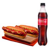 Dóblate Frankfurer + Coca Cola 500ml