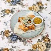 Шашлик з філе індички з яблучним соусом (200г)