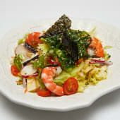 #19 Ensalada china de lechugas verdes, algas y langostino