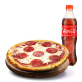 PIZZA INDIVIDUAL CLÁSICA + GASEOSA (500 ml.)