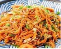 R5-Spaghetti Saltati con Manzo/Gamberi/Verdure