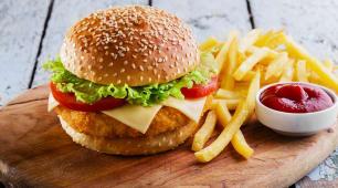 Crispy Chicken Cheese Burger