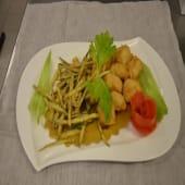 Fritto di baccalà e zucchine croccanti