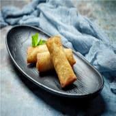 Rollito frito de secreto ibérico y verduras