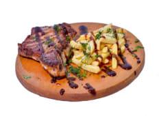 Steak de porc cu cartofi