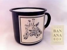 Enamel mug animal print