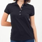 Polo Básica Con Lycra Color Negro Talla Xl